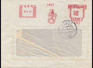 Nederland: Frans Beeren, 1947 Weert, Bär mit Wappen