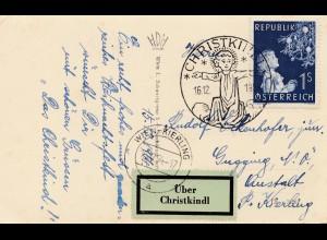 1954: Christkindl - Österreich nach Wien Kierling