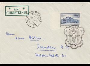 1956: Christkindl - Österreich auf Brief nach Dresden