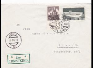 1957: Christkindl - Österreich auf Brief nach Linz