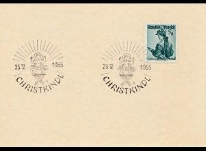 1955: Christkindl - Österreich auf Blanko Karte
