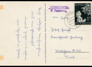 1953: Tamsweg - Unternberg - Weihnachtskarte