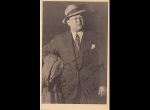 1932: Ansichtskarte mit Franz Völker- WHW-Winterhilfe Neu Isenburg mit Autogramm