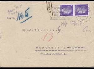 Zensur: 1943: Dresden - Wartenburg: ZUCHTHAUS Sartenburg