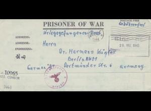 Zensur: März 1945: POW von USA nach Berlin: US Censor