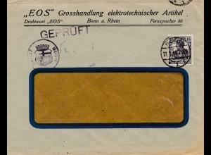 Zensur: 19: Bonn, EOS elektrot. Artikel - Geprüft