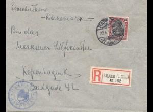Zensur: 1917: Rappenau nach Kopenhagen