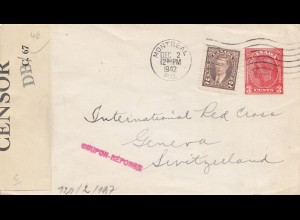 Zensur: 1942: Brief von Montreal in die Schweiz