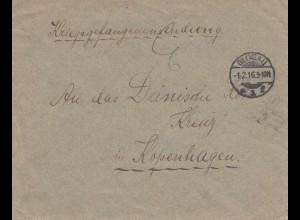 1916: Kriegsgefangenensendung von Glogau nach Kopenhagen