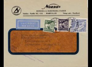 Zensur: 1936: Schweden-Luftpost nach Leipzig: Postüberwachung