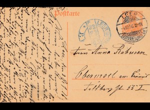Zensur: 1916: Ganzsache Leer - Geprüft