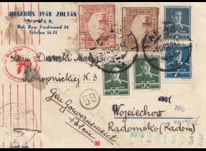 Zensur: 1942: Karte von Rumänien/Besarabien nach Radom (Generalgouvernement)