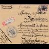 Zensur: 1916: Einschreiben von Bad Nauheim nach Dänemark Prüfstelle Nauheim