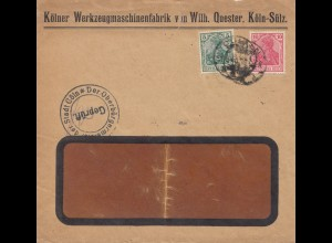 Zensur: Brief mit Zensur der Oberbürgermeister der Stadt Cöln/Köln