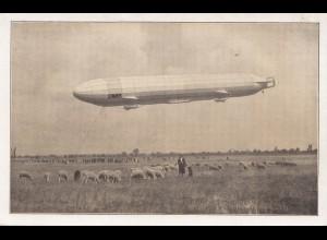 Zeppelin: Ansichtskarte: Stations-Landeplatz Luftschiff Schwaben