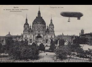 Ansichtskarte: Berlin im Zeichen des lenkbaren Luftschiffes 1908