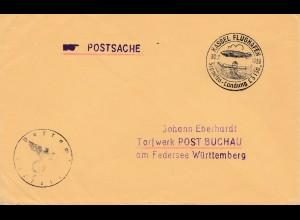Brief 1939 aus Kassel: Sonderstempel Landung Graf Zeppelin LZ 130
