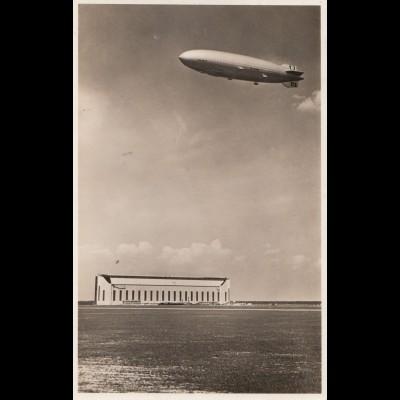 Ansichtskarte: Luftschiff LZ 130: Flughafen-Kassel-Waldau 1939