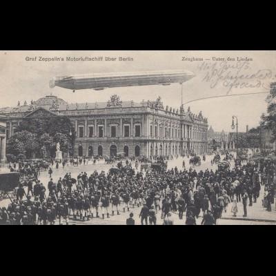 Ansichtskarte: Zeppelin über Berlin