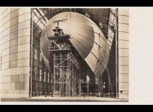 Ansichtskarte: 1935: Luftschiffwerft: LZ 129 im Bau