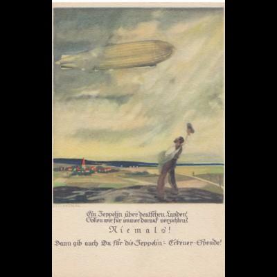 Ansichtskarte: Zeppelin Eckener Spende- Zeppelin-Luftschiff 1926