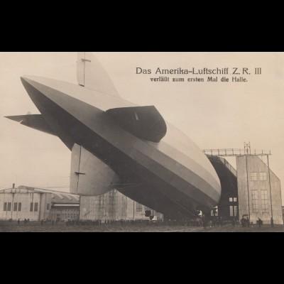 Foto-Ansichtskarte Amerika Luftschiff Z.R. III
