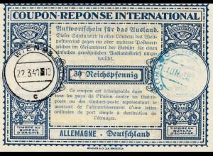 Internationaler Antwortschein Wien 1941