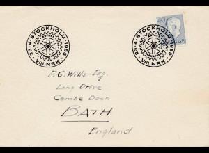 Brief Stockholm nach England 1955 Rotary