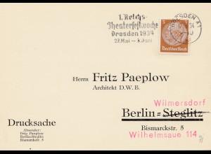 1934: Dresden: Reichs Theaterfestwoche