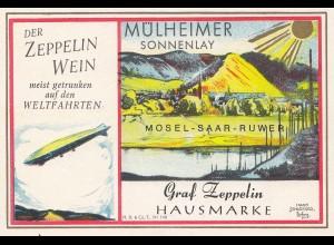 Wein - Zeppelin Wein: Mülheimer Sonnenlay-Graf Zeppelin Hausmarke