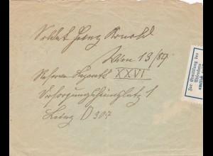 Brief nach Wien - amtlich geöffnet zur Ermittlung des Absenders