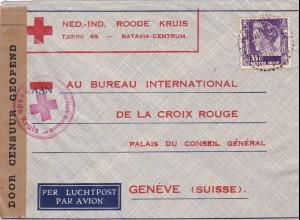 Luftpost von Holland 1940 zum roten Kreuz - Zensur