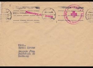 Brief 1947 Tschecheslovakei nach Meppen - Kriegsgefangenen Brief - Prag