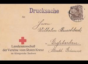Landesausschuß Rotes Kreuz Sachsen - 1917-Perfin- Geldspende Gefangenfürsorge