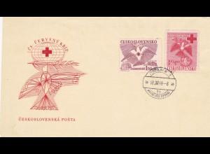 Brief Tschecheslovakei Prag 1949 Rotes Kreuz