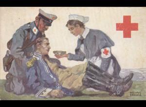 Postkarte Rotes Kreuz 1914 von Dresden
