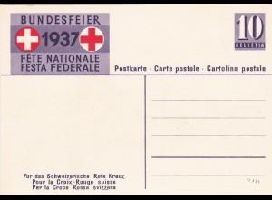 Ganzsache Schweiz 1937 - Rotes Kreuz