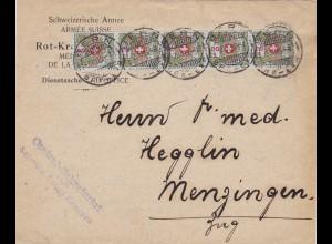 Schweizer Armee, Dienstsache Bern nach Menzingen 1916