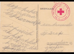 Niederlande: Rotes Kreuz - Groningen - Ansichtskarte