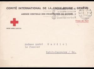 Schweiz: Internationaes Komitee Rotes Kreuz - Kriegsgefangen Zentrale Genf 1942