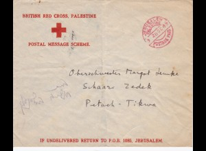British Red Cross Palestine 1942