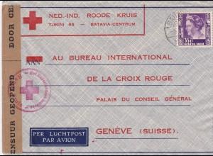 Niederlande Luftpost Rotes Kreuz nach Genf mit Zensur 1940