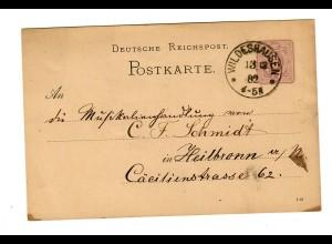Ganzsache Wildeshausen 1882 nach Heilbronn