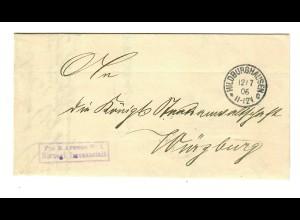 1906 Frei Herzogliche Irrenanstalt Hildburghausen nach Würzburg