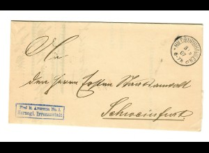 1907 Frei Herzogliche Irrenanstalt Hildburghausen nach Schweinfurt