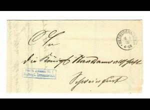 1908 Frei Herzogliche Irrenanstalt Hildburghausen nach Schweinfurt
