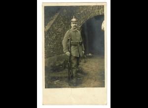 Ansichtskarte I. WK, Soldat Maubeuge/Frankreich nach Lauf/Nürnberg