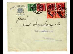 Bayr. Hofkeller Würzburg nach Kitzingen an Weingrosshandlung