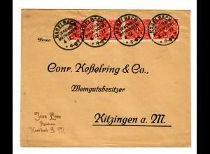 Brief von Haselbach/Sachs-Meiningen 1922 nach Kitzingen