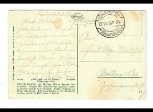 """Ansichtskarte Königsbrück """"Gold geb ich für Eisen"""" 1916"""